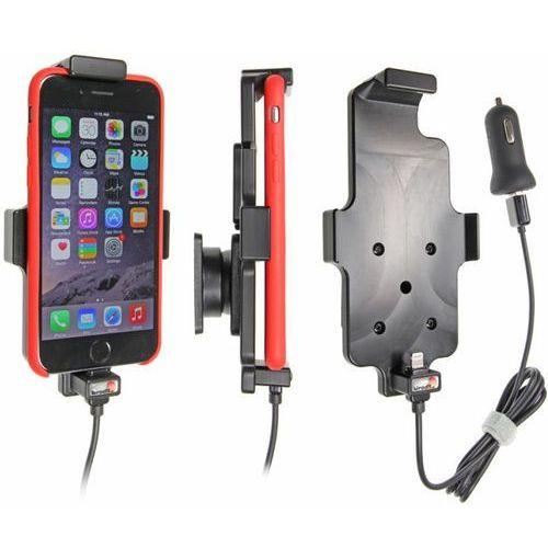 Uchwyt do Apple iPhone 8 w futerale z wbudowanym kablem USB oraz ładowarką samochodową