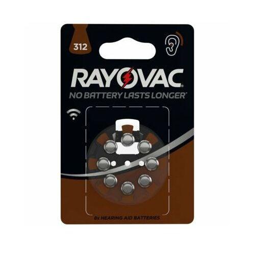 Rayovac baterie do aparatu słuchowego typ 312 (8 szt.) - produkt w magazynie - szybka wysyłka! (5000252003793)