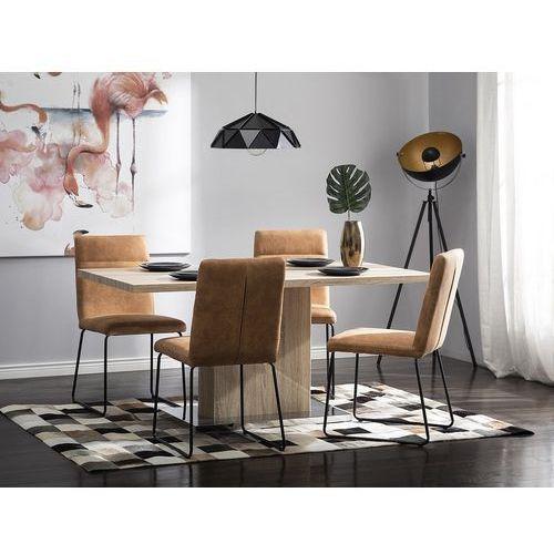 Zestaw do jadalni 2 krzesła koniakowe NEVADA, kolor brązowy
