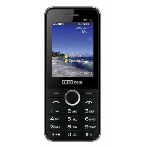 Telefon MAXCOM MM 136 + starter Fakt Mobile Czarny (5908235973739)
