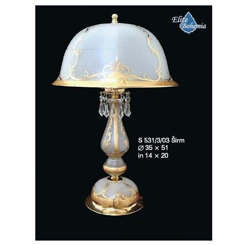 Elite bohemia Lampa stołowa (biurkowa) z kryształkami
