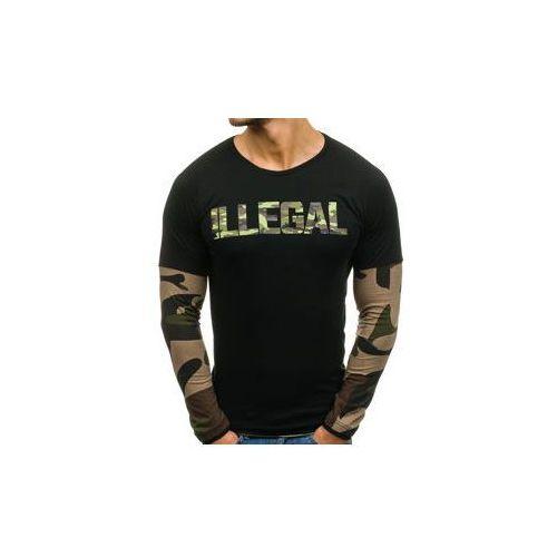 Longsleeve męski czarno-khaki denley 1162 marki Athletic