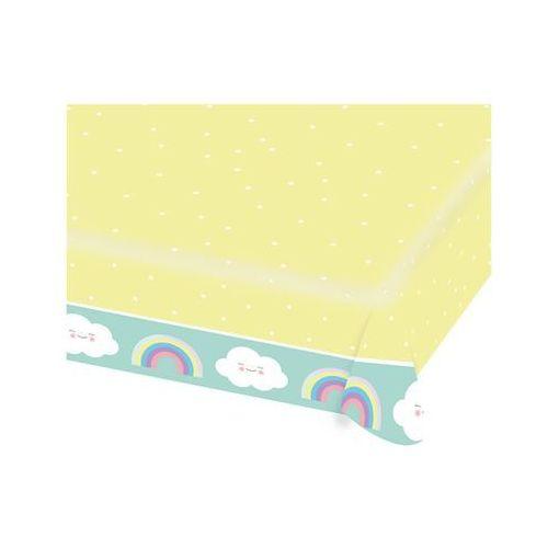 Amscan Obrus urodzinowy tęcza i chmurka - 115 x 175 cm - 1 szt. (0192937009994)