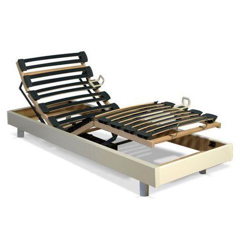 Stelaż relaksacyjny z listew ze sklejki - 5 powierzchni do leżenia - regulowana twardość - 80 x 200 cm - biały marki Dreamea
