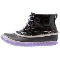 Sorel OUT N ABOUT Botki sznurowane black/paisley purple, NY2635