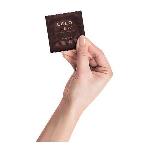 Prezerwatywy nowej generacji - Lelo HEX Condoms Respect XL 3 szt