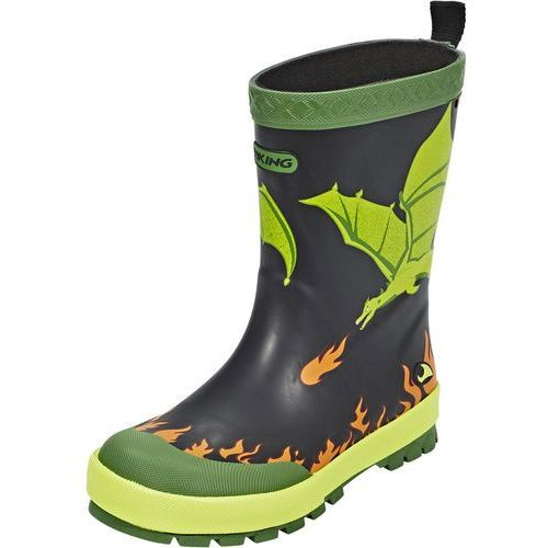 Viking DRAGE Kalosze black/lime, 1-17140
