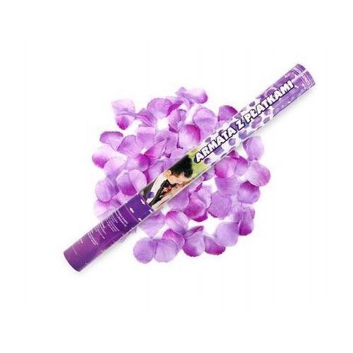Tuba strzelająca, liliowe sztuczne płatki róż, 60 cm, 1 szt. marki Ap