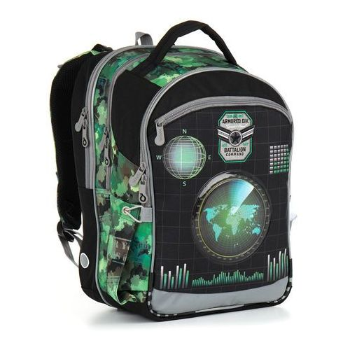 Topgal Plecak szkolny chi 883 e - green