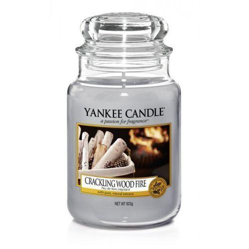 Yankee candle duża świeca zapachowa, 623 g, crackling wood fire (5038581016474)