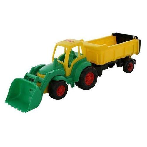 Wader-polesie Traktor mistrz z łyżką i naczepą (4810344010438)