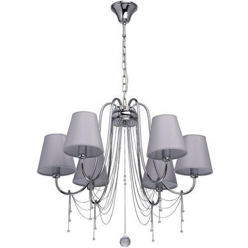 Mw-light Chromowana lampa wisząca z kloszami i kryształami elegance (684010606)