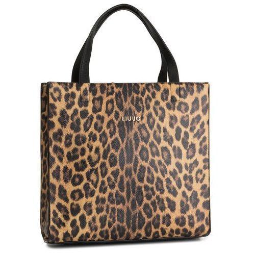Torebka - m shopping a69100 e0419 leopardo marro 03v36 marki Liu jo