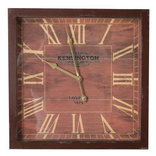 Dekoria zegar ścienny london brown 40x6x40cm, 40 × 6 × 40 cm