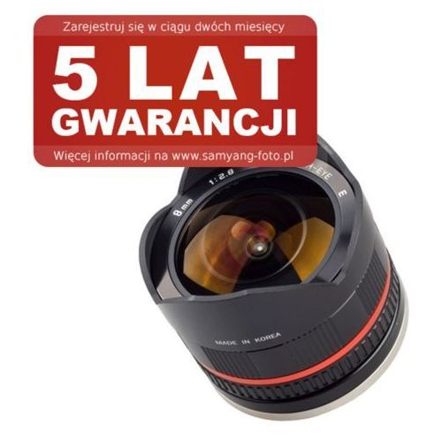 Samyang 8mm f/2.8 UMC Fisheye II Sony E (czarny), F1220306101