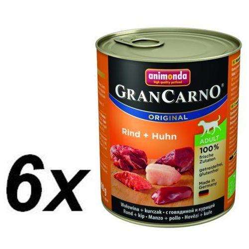 Animonda dog konserwa gran carno wołowina/kurczak - 6x 400g (4017721827324)