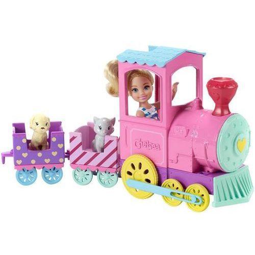 Barbie Lalka chelsea + pociąg ze zwierzakami