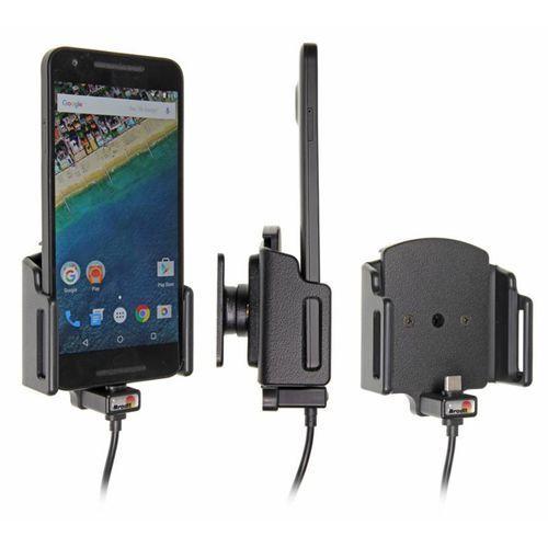Uchwyt uniwersalny regulowany do Samsung Galaxy Note 9 w futerale lub etui o wymiarach: 75-89 mm (szer.), 9-13 mm (grubość) z wbudowanym kablem USB-C oraz ładowarką samochodową
