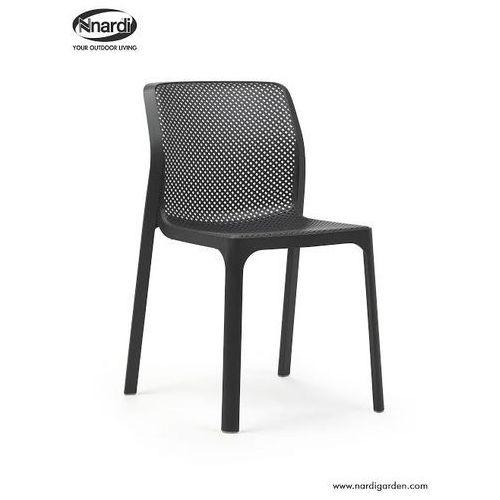 Krzesło Bit grafitowe, kolor szary
