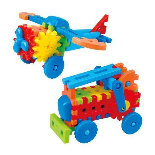 Playgo samolot/samochód strażacki zestaw klocków mały inżynier, 2023 (4892401020239)