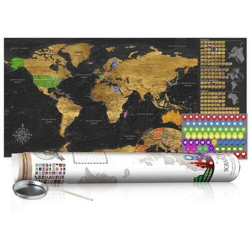 Mapa zdrapka - złota mapa - plakat (wersja angielska) marki Artgeist