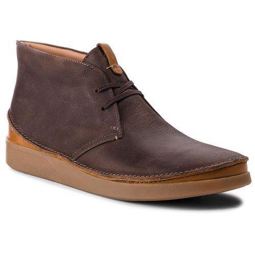 Trzewiki CLARKS - Oakland Rise 261353977 Dark Brown Leather, kolor brązowy