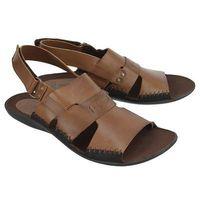 06-0347-01-7-04-03 rudy, sandały męskie - brązowy marki Nik