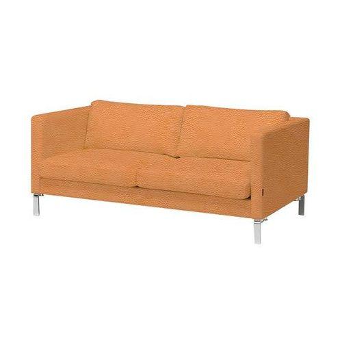 3 siedziskowa sofa z serii KVADRAT tapicerowana skórą w kolorze naturalnym