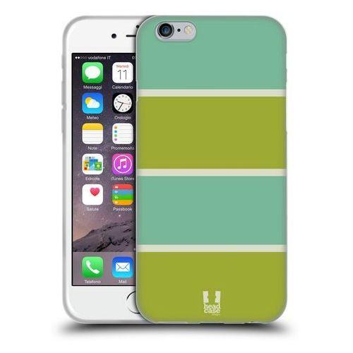 Etui silikonowe na telefon - Paski Niebieskie i Zielone, kolor zielony