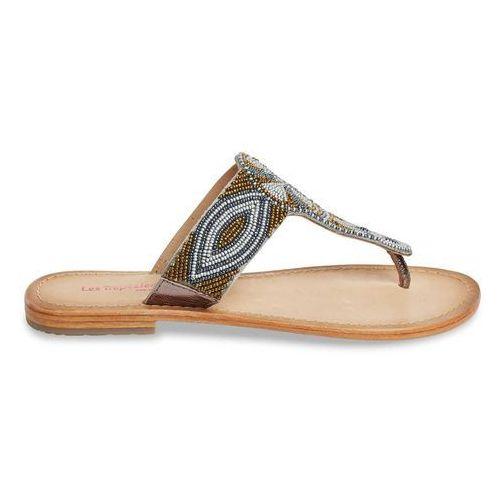 Sandały skórzane na płaskim obcasie melody marki Les tropeziennes par m.belarbi