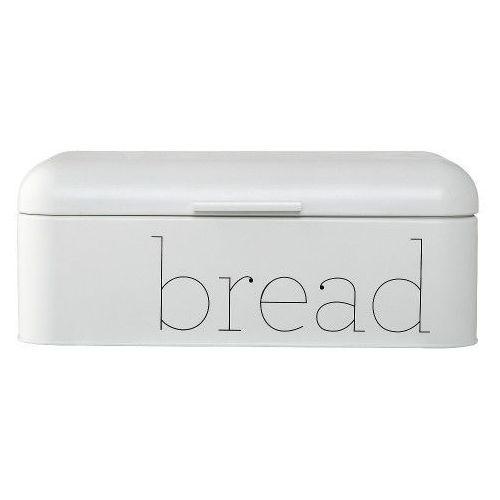 Duży metalowy pojemnik do chleba biały, chlebak - Bloomingville