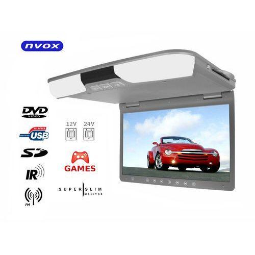 "Nvox rf1515d grey monitor podwieszany podsufitowy lcd 15"" cali dvd usb sd ir fm gry (5909182415990)"