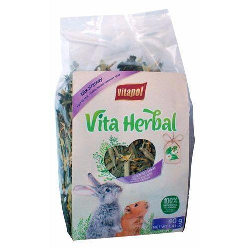 VITAPOL Vitaherbal Mix Ziołowy dla gryzoni i królika 40g - DARMOWA DOSTAWA OD 95 ZŁ! (5904479041043)