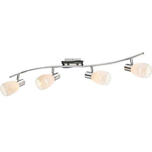 Globo Listwa lampa oprawa sufitowa toay 1x40w e14 biały/brązowy/chrom 541010-4