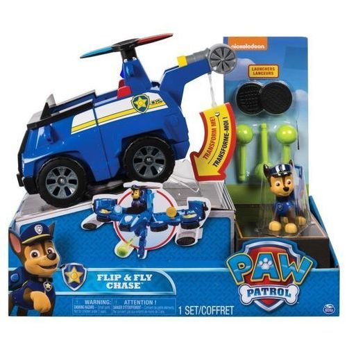 Psi Patrol, Flip and Fly Pojazd z figurka, Chase - DARMOWA DOSTAWA OD 199 ZŁ!!!, 1_638430