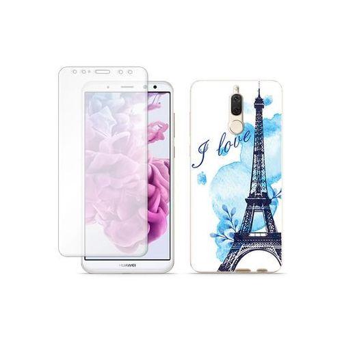 Huawei Mate 10 Lite - etui na telefon Full Body Slim Fantastic - niebieska wieża eiffla, kolor niebieski