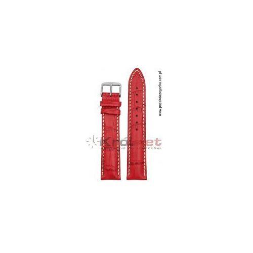 Pasek Hirsch Modena 20 mm - czerwony, kolor czerwony