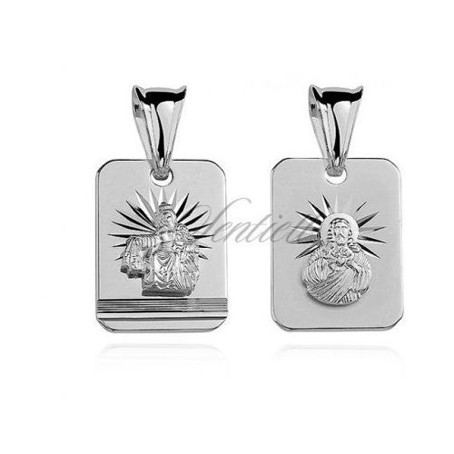 Srebrny medalik Jezus / Matka Boska Szkaplerzna - GMD012 - sprawdź w wybranym sklepie