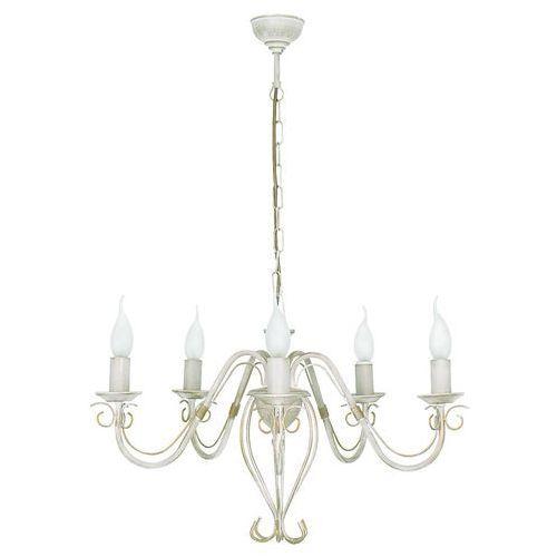 Lampa wisząca Nowodvorski Tesa V 1055 zwis 5x60W E14 krem, 1055