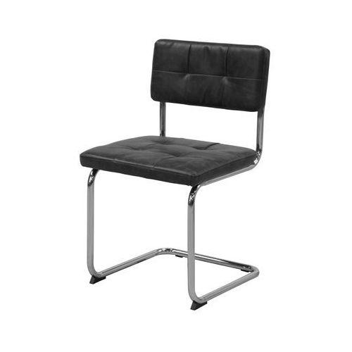 Krzesło sevilla 3, czarne, skóra ekologiczna, chrom, 22146-1 marki Interstil