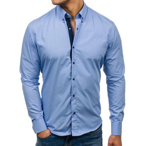 Bolf Koszula męska elegancka z długim rękawem błękitna 7723