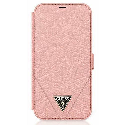 """Guess GUFLBKP12SVSATMLPI iPhone 12 mini 5,4"""" różowy/pink book Saffiano"""