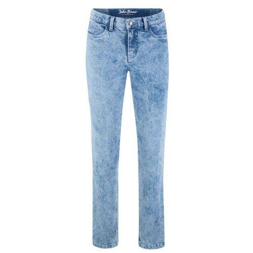 Spodnie dresowe z zamkami po bokach bonprix jasnoszary melanż, kolor niebieski