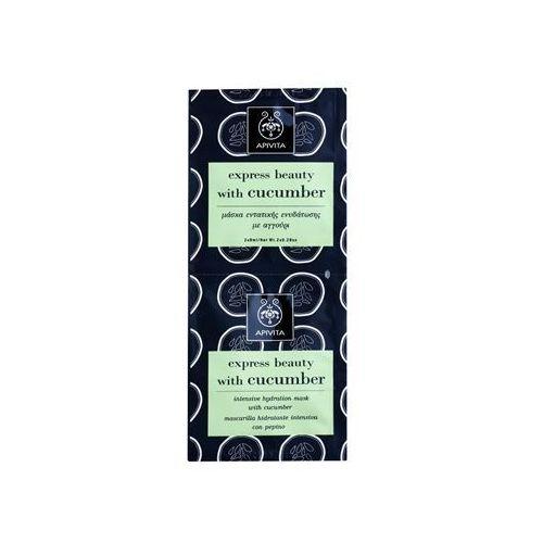 Apivita  express beauty cucumber ntensywnie nawilżająca maseczka 2 x 8 ml