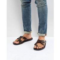 leather sandals in brown - brown, Pier one