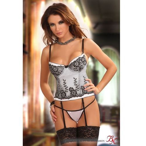 Komplet model chantall corset black/white marki Beautynight