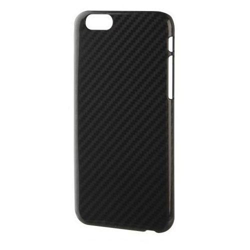 Pokrowiec XQISIT iPlate Carbon Case na iPhone 6 Plus Czarny
