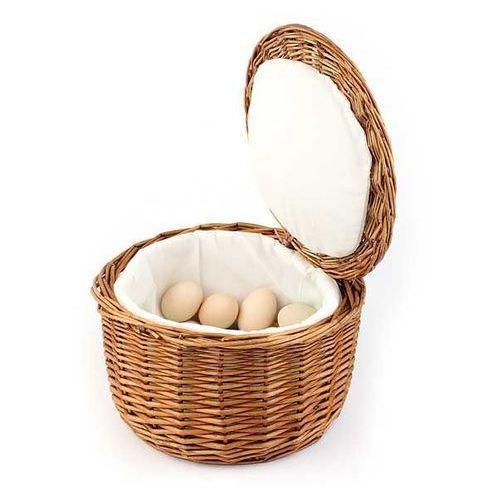 Termiczny Koszyk Wiklinowy na Jajka | Ø260x170 mm - produkt z kategorii- Pojemniki i kosze gastronomiczne
