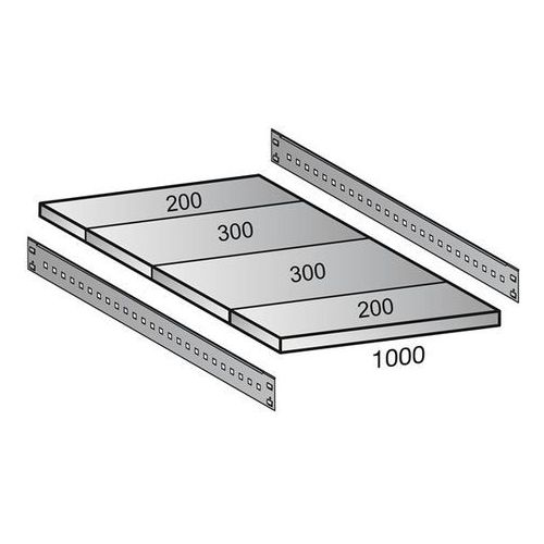 Scholz regalsysteme Półka do przemysłowego regału wtykowego, szer. półki 1000 mm, gł. 1000 mm. warto