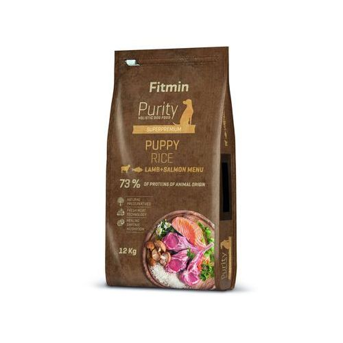 FITMIN Purity Puppy Lamb, Salmon & rice 12kg (8595237015979)